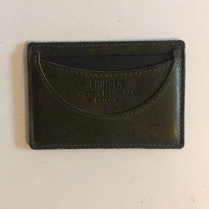 Shinola Dark green leather Wallet